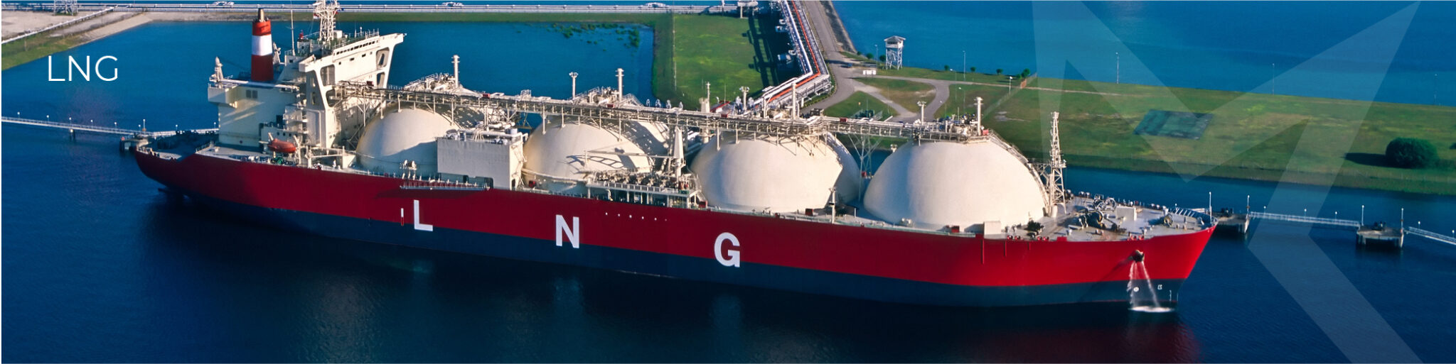 Boat carrying Liquefied Natural Gas